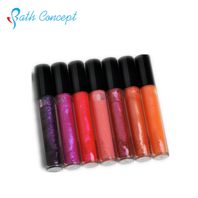For night club glitter lipgloss charming shimmer jewelry lip gloss