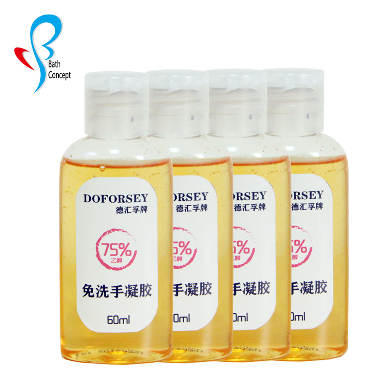 FDA Approved 60ml Travel Portable Antiseptic Organic Antiseptic Hand Gel